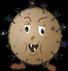 Microbe dans les modules de motricité en mousse