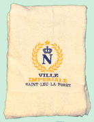 serviette brodée impériale