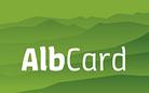 Logo AlbCard, Gästekarte Schwäbische Alb, Tourismusgemeinschaft Schwäbische Alb e.V.