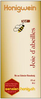 Etikette unseres Mets (Honigwein)