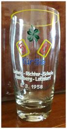 5 zu 0 für Sie - Ludwig-Richter-Schule Lotzdorf 1958. Sogar ein eigenes Bierglas wurde hergestellt.