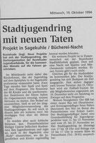 Der erste Tageblatt-Bericht über das neue Stadtteilprojekt des SJR