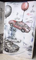 Autos im Höhenflug