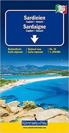 Sardinien Straßenkarte