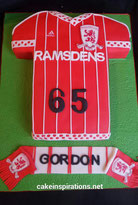 Middlesborough Football Shirt Birthday cake