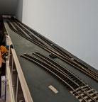 Vorhandenes Gleismaterial verlegt