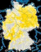 Karte zur Verbreitung der Nachtigall (Luscinia megarhynchos) in Deutschland