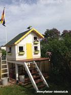 Stelzenhaus, Kinderhaus, Holzhaus, Bunt, Kreativ