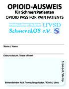 Opioid-Ausweis © UVSD SchmerzLOS e. V.