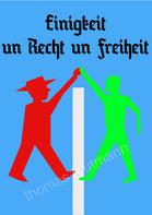 """Raising the Flag again and again; die Mauer muß weg, Thomas Krutmann, Ausstellung """"alles offen"""" ? Ein Deutschland, 30Jahre Freiheit"""