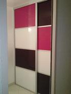 Porte de placard en verre (de 3 couleurs différentes)