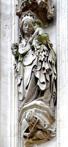 Vierge à l'Enfant- Façade Nord