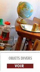 Les objets et tissus vintage