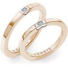 Fedi Nuziali Comete Gioielli Adamo ed Eva  con un diamante oro rosa  ANB2322RB
