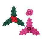 Set Cortante Acebo y Bayas de Navidad