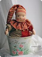 купить клоуна из ткани натуральную и безопасную игрушку