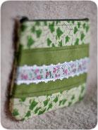 текстильная сумочка косметичка в стиле лосутного шитья