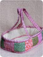 кроватка переноска для куклы из ткани