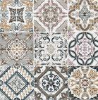 Servilletas para decoupage decoradas con azulejos