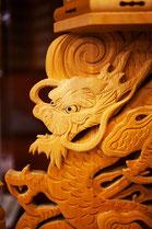 竜の彫り物