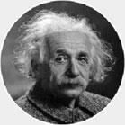 Hypnose-Powerline, Bild von Albert Einstein.
