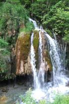 La Cascade le long de la Route de Bedous à Aydius