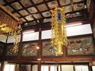 東照宮の雰囲気をもつ天井画と欄間彫刻 正福寺