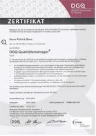 Zertifikat DGQ Qualitätsmanager