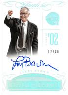 LARRY BROWN / Hall of Fame - No. HOF-LBR  (#d 12/20)
