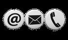 Bilder-Symbolleiste @, E-Mail und Telefon