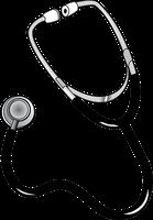 頸部聴診法で用いる聴診器のイラスト