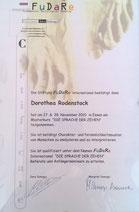 Zertifikat Zehenlesen Fredenbeck