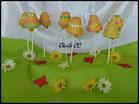 cake pops cloche de paques, chic choc cake boutique en ligne cake design et patisserie pas cher