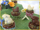 cupcake paques, topping tourbillon chocolat, chocolat paques, boutique en ligne cake design et patisserie chic choc cake pas cher