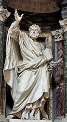 Saint Pierre par Pierre-Étienne Monnot, archibasilique Saint-Jean-de-Latran de Rome