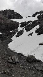 Eher ein Schneefeld als ein Gletscher...