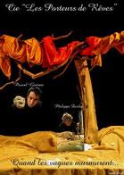"""Affiche du spectacle de marionnettes """"Quand les vagues murmurent..."""" conçue par Thierry Wenes"""