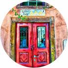 porta finestra rossa