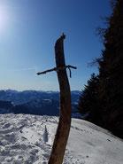 Gscheidriedel Gipfel nach der Wanderung von der Wurzeralm Bergbahn