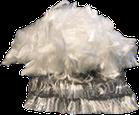 Fibras sintéticas de polipropileno utilizadas como refuerzo en el concreto. Reduce las grietas formadas por contracción plástica.