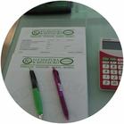 preventivo con penne e calcolatrice
