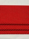 Rot mit Punkten