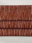 Baumwollstoff in rotbraun mit Streifen