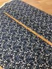 "Cotton Poplin Print ""Blumen blau"""