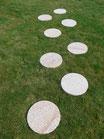 40 Trittsteine aus Granit (gelbbunt)