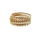 Emma Hedley Yellow Gold Textured stacking rings lyric ring