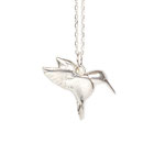 silver hummingbird necklace emma hedley jewellery