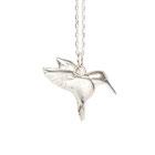 silver hummingbird necklace emma hedley jewellery