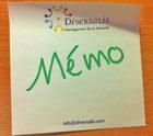 logo diversalis mémo, infos flash diversité