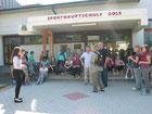 Vor der Sporthauptschule Gols - 2011